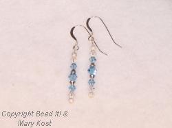 Aquamarine and Silver dangle  earrings