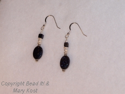 Blue Moonstone Gemstone Earrings