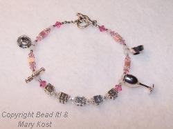 Wife's Charm bracelet in  birthstone color