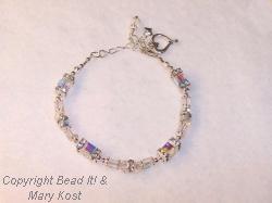Bride's Crystal sqaures bracelet