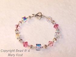 Assorted Pink crystal bracelet