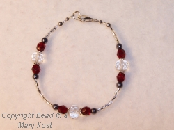 Ohio State Czech and crystal bracelet