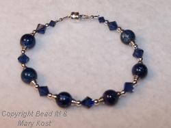 Sapphire and blue gemstone bracelet