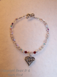 Heart Charm crystal bracelet