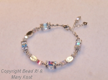 """Faith Hope and Love"" wedding/anniversary bracelet"