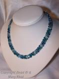 Carribean blue helix twist necklace