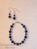 Lapis Lazuli and Swarovski set