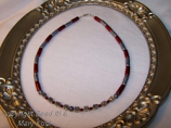 """""""Ohio State"""" scarlet and gray necklace"""