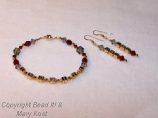 Ohio State TBDBITL bracelet and earring set
