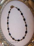 Faceted Malachite gemstone necklace