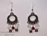 Univ of Wisconsin hoop earrings