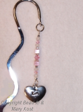 Heart Name Birthstone Bookmark