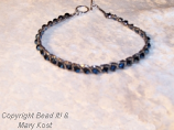 Metallic blue evening bracelet