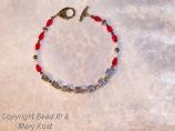 """""""Badgers""""  red/white bracelet-1"""