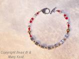 """""""Badgers""""  red/white bracelet-3"""