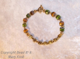 Green Bay Packer Bracelet with Matching necklace
