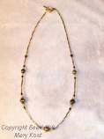 Gold Swirl necklace
