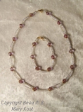Amethyst faceted Necklace and bracelet