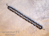 Black double strand cats eye bracelet