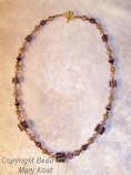 Shades of Purple/24 kt gold plated necklace