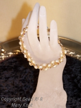 3D Freshwater pearl bracelet