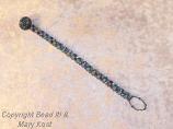 Torquoise Swarovski Button Bracelet
