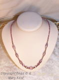 Pink/Amethyst/gold necklace