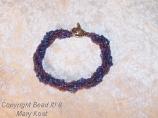 Purple Twisted Multi-strand bracelet