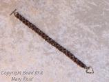 Ohio State woven bracelet