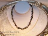 Gemstone necklace/gold