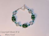 Green and White Party bracelet