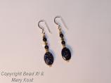 Blue Moonstone gemstone/gold Earrings