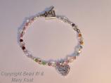 Grandmother's  bracelet with birthstones of grandchildren