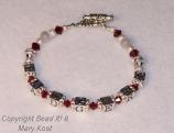 "Swarovski and ""Badgers"" bracelet"