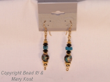 Black/Blue Cloisonne Round earrings