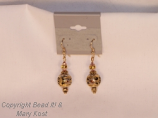 Gold cloisonne earrings