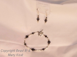 Cosmo Jet Bracelet and Earrings Set