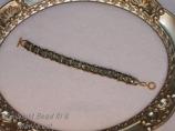 Green Gold  Woven bracelet