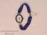 Blue Swaorvski Crystal/magnetic clasp and safety chain