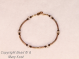 Delicate crystal and seed bead bracelet