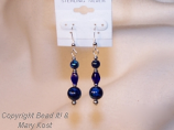 Lapis Lazuli gemstone and Silver earrings