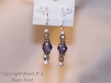 Purple Chinese Lampwork earrings
