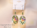Yellow Mother of Pearl Floral earrings