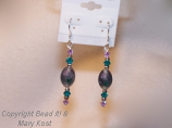 Smoked purple and Teal earrings