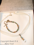 Had Necklace and bracelet, but needed earrings