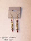 OSU dangle gold earrings