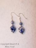 Chinese porcelain blue earrings